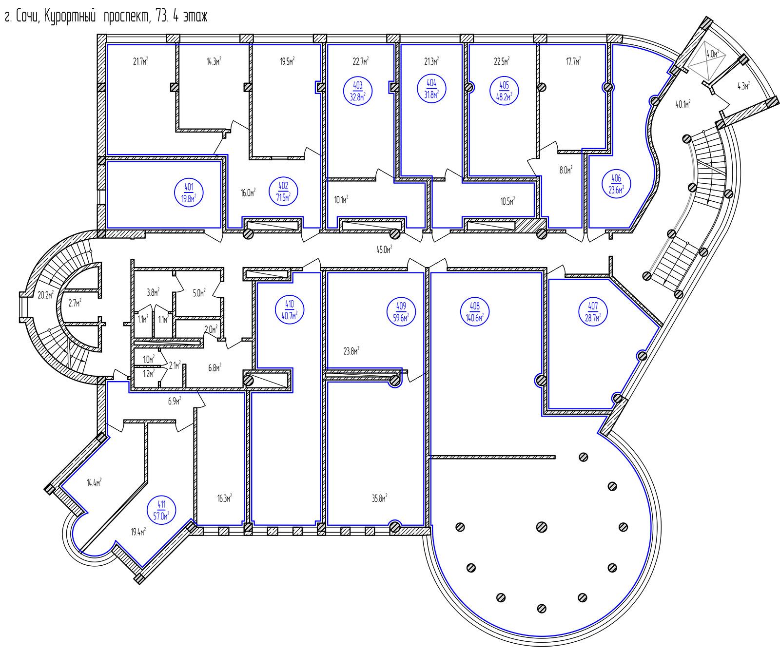 Планировка: этаж 4