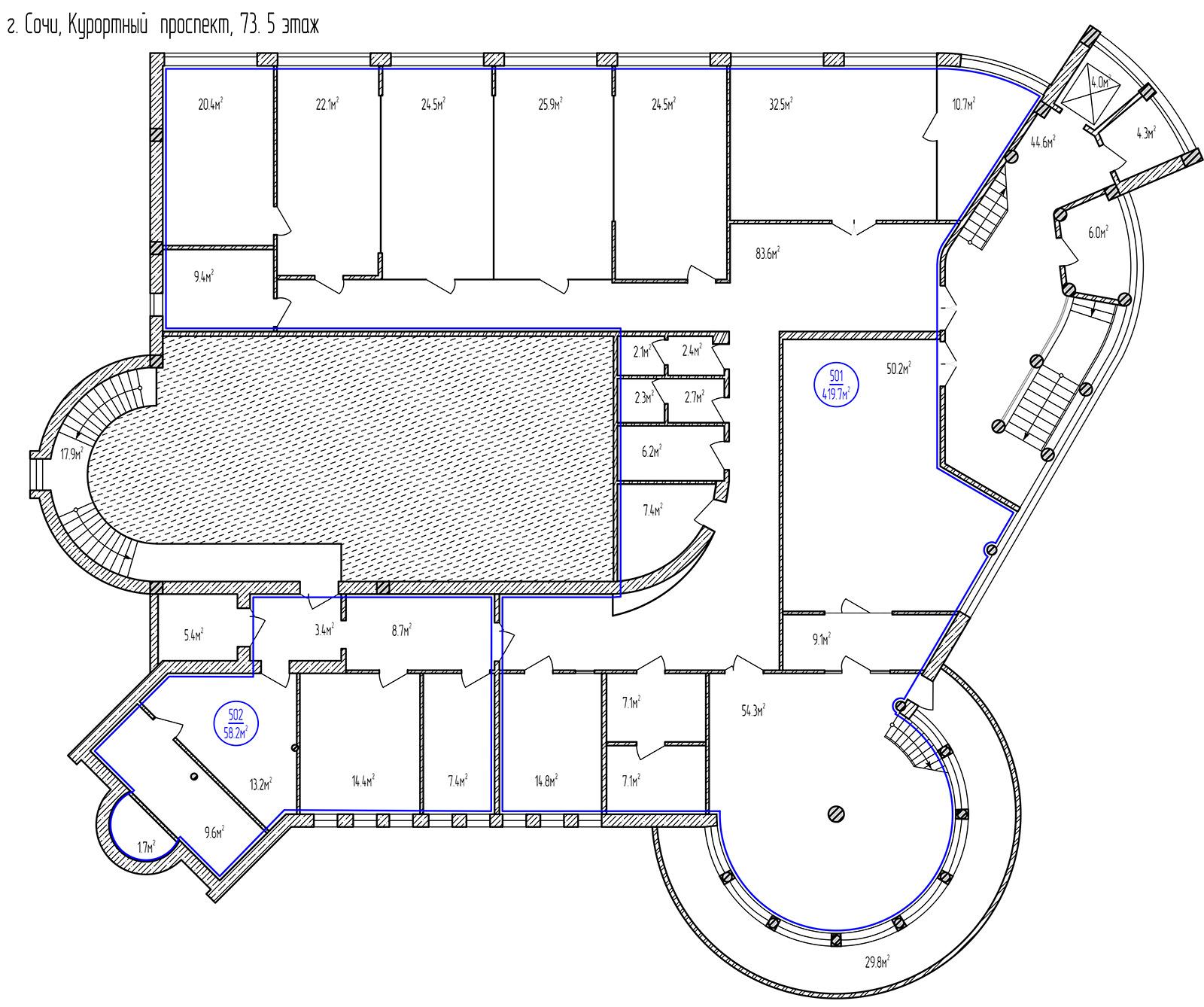 Планировка: этаж 5